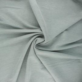 Tissu piqué viscose fluide - vert sauge chiné x 10cm