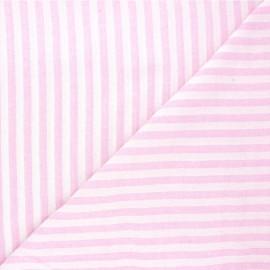 Tissu coton chambray Antibes - rose x 10cm