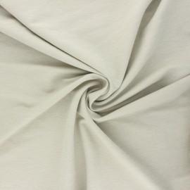 Tissu piqué viscose fluide - grège chiné x 10cm