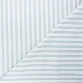 Tissu coton chambray Antibes - vert x 10cm