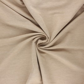Fluid stitched viscose fabric - mottled sand x 10cm