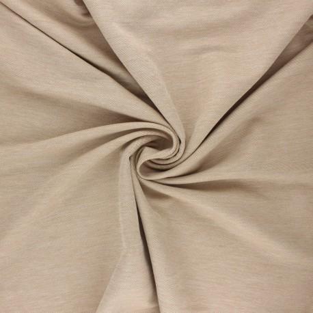 Fluid stitched viscose fabric - mottled sand x 10cm