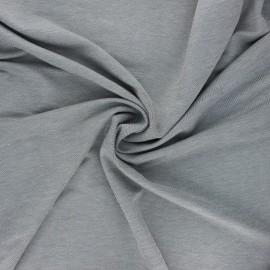 Tissu piqué viscose fluide - noir chiné x 10cm