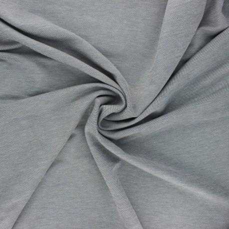 Fluid stitched viscose fabric - mottled black x 10cm