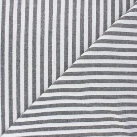 Chambray fabric - black Antibes x 10cm