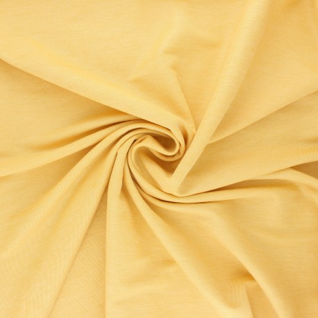 Fluid stitched viscose fabric - mottled yellow x 10cm