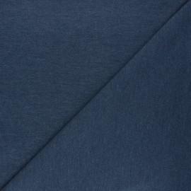Tissu jersey piqué spécial Polo - bleu houle x 10cm