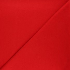 Tissu jersey piqué spécial Polo - rouge passion x 10cm