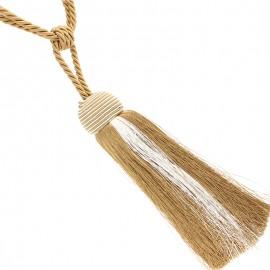 Pompom curtain tieback - gold Arsène