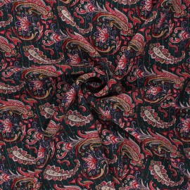 Tissu viscose froissé lurex Persia - vert pin x10cm