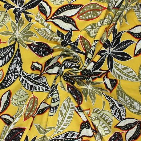 Viscose jersey fabric - yellow Tamara x 10 cm