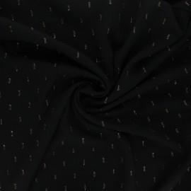 Tissu rayonne lurex - noir x 10cm