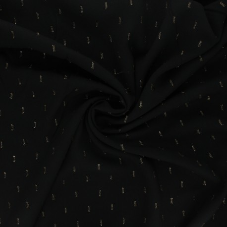 Lurex rayon fabric - black x 10cm
