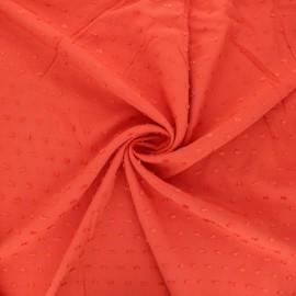Tissu viscose plumetis Félicie - orange x 10cm