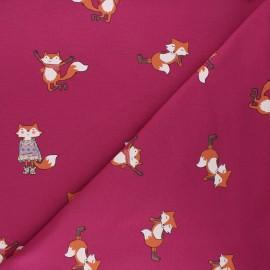Tissu sweat léger Cool fox - violine x 10cm