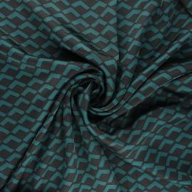 Tissu satin polyester Géoma - vert x 10cm
