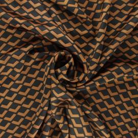 Tissu satin polyester Géoma - camel x 10cm