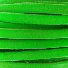 Flat leather x 50cm - fluorescent green