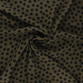 Georgette crepe fabric - khaki Aveiro x 10cm