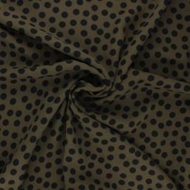 Tissu crêpe Georgette Aveiro - kaki x 10cm