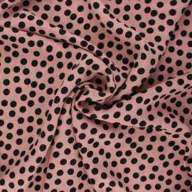Tissu crêpe Georgette Aveiro - rose clair x 10cm