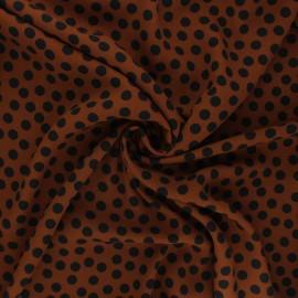 Georgette crepe fabric - camel Aveiro x 10cm
