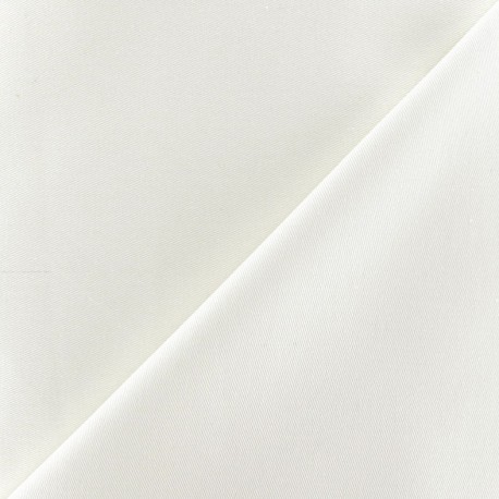 Cotton Gabardine Fabric - Ecru x 10cm