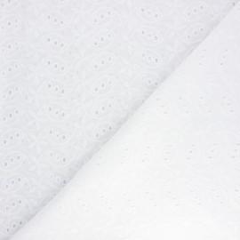 Openwork cotton voile fabric - raw Manley x 10cm