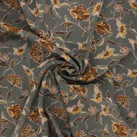 Tissu crêpe Georgette Olga - vert de gris x 10cm