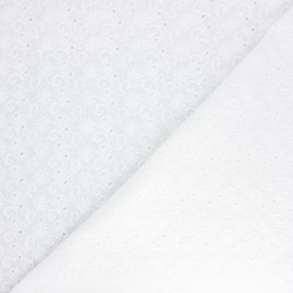 Openwork cotton voile fabric - raw Swinton x 10cm