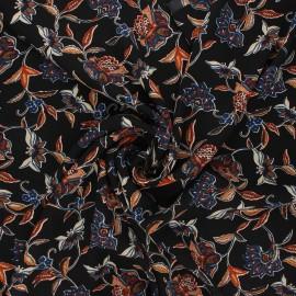 Tissu crêpe Georgette Olga - noir x 10cm