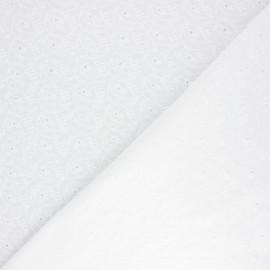 Tissu voile de coton broderie anglaise Wilmslow - écru x 10cm