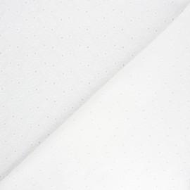 Openwork cotton voile fabric - raw Mills hill x 10cm