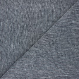 Linen chambray fabric - night blue x 10cm