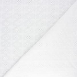 Tissu voile de coton broderie anglaise Astley - écru x 10cm
