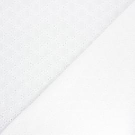 Tissu voile de coton broderie anglaise Carrington - écru x 10cm