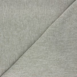 Linen chambray fabric - khaki x 10cm