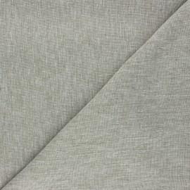 Tissu chambray lin - kaki x 10cm