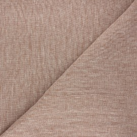 Linen chambray fabric - camel x 10cm