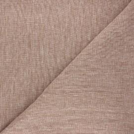 Tissu chambray lin - camel x 10cm