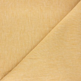 Tissu chambray lin - jaune moutarde x 10cm