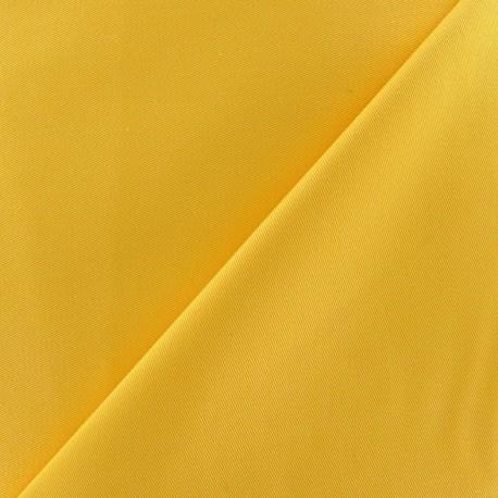 Tissu Gabardine coton jaune x 10cm