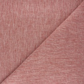 Linen chambray fabric - red brick x 10cm