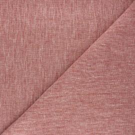 Tissu chambray lin - tomette x 10cm