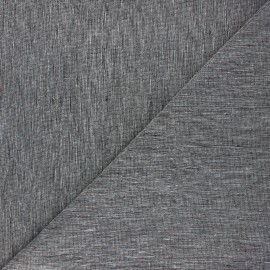 Linen chambray fabric - black x 10cm
