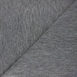 Tissu chambray lin - noir x 10cm