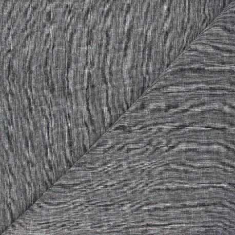 Linen chambray fabric - black x 10cm