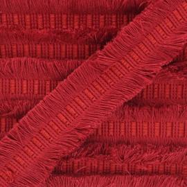 Galon double frange 45mm Wren - rouge x 1m