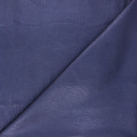 Imitation leather fabric - navy blue Astra x 10cm