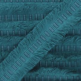 Galon double frange 45mm Wren - bleu paon x 1m